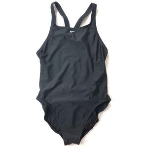 Nike black raceback one piece swimsuit 9457